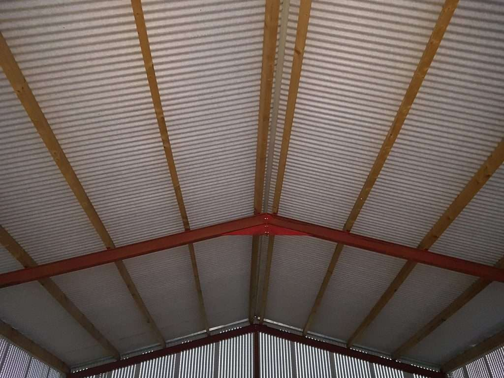 Timber Purlins, Ventilated Sheeting, Non Drip Sheeting
